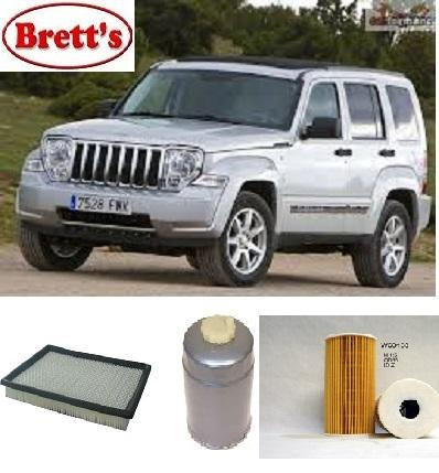 Kit9811 filter kit jeep cherokee 2 8l crd 05 2006 2009 oil for 2009 jeep liberty cabin air filter location