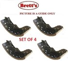 11525.111 REAR NEW BRAKE SHOE  SET OF 4 LINED SUIT HINO BD190 1996-   AD2J BUS   FC3J 1996-      RANGER    J07C-B    6.6L    1996-  FD1J 1996-2008  FD2J 1996- XI HAND BRAKE MODELS FD7J 2011-  FD8J 2008-