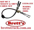 SPEC 12230.523  SELECT AND SHIFT CABLE SET  CABLES ARE ONLY SOLD IN KIT  SUIT MAZDA TITAN   2000-  4.6L 4600CC MODELS  WH68H  WH68K W63346520E W633-46-520E W633-46-510D W63346510D