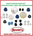 12232.390 GEAR LINKAGE KIT BUSH SET OVERHAUL YOUR SLOPPY GEARSHIFT  FM515 FK415 FK417 FM557 FM555 FK455 FK457 1985-1995 MITSUBISHI FUSO GEAR CHANGE SELECTOR WORN WEAR BUSHS BUSH KIT BUSHES