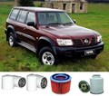 KIT4005 BRETTS FILTERS 4WD FILTER KIT RSK14 NISSAN GU PATROL TURBO DIESEL 4.2L 5/2002- OIL FILTER FUEL FILTER AIR FILTER TWO DIFFERENT OIL FILTERS K-18050 K18050