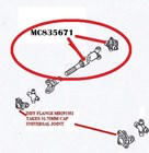 ZZZ MC835671  PROP SHAFT  ASSY TAILSHAFT PROPELLOR REAR ASSY FE339 WB.E 93-  BRAND NEW MITSUBISHI CANTER WITH SLIP YOKE MC833227 PROP MC835671 X 1 FLANGE MB293352 X 1