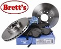 VOL111  MIDDLE DISC ROTOR WDR724 85103805 VOLVO SPLINE 375MM VENTED ROTORS JURATEK