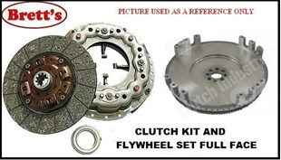 "CFK1721N CFK1721 FULL CLUTCH KIT AND SOLID FLYWHEEL  KIT SET TRUCK AND COMMERCIAL   HINO 14"" CLUTCH KIT FT1J  J08C 2003-08 GD1J    J08C-F	8.0L	1996-03 GD1J RANGER PRO 7	  J08C-UJ	8.0L	2003-08 GD8J R5143N 15880.191 R1721 R1721N   HNK7291  R5143 R5143NF"