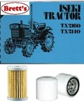 KITI001 FILTER KIT Iseki TX2140 TX2160 Tractor with cartridge fuel filter  OIL & FUEL  FILTERS  FLK4501 replace Iseki 566301744000 & 565004048790