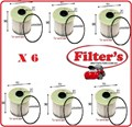 FE0025X6 6 X PAK  FUEL FILTER HOLDEN RODEO TURBO DIESEL  3.0L  2007- ON   HOLDEN COLORADO TURBO DIESEL 3.0L 2008-ON    ISUZU D-MAX TURBO DIESEL 3.0L  2008- ON  ISUZU ENGINE 4JJ1  SAVE % 6PAK 6 PACK FE0025