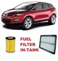 KIT6004 FILTER KIT MAZDA CX-7 CX-7 2.3L PETROL 2006-ON OIL  AIR FILTER LUBE SERVICE KIT SET