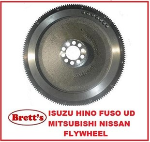 "10985.009 FLYWHEEL 14"" FM515  TURBO 1984-1989 ME032693 3A3201 6D142T 6D14-2AT 6D14T  MITSUBISHI FUSO TRUCK PARTS  FM515            6D14-2AT    6.6L    1985-1989 FM555            6D14-2AT    6.6L    1987-1990"