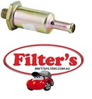 FE9872  FUEL FILTER   INLINE IN-LINE  IN/OUT STEEL   BF879 Baldwin Screw-in Carburetor In-Line Fuel Filter Replaces AMC 3193898, 8992430; Ford C7AE-9155-A; Jeep J8992430; Massey Ferguson 521248-M91; Onan 149-1353