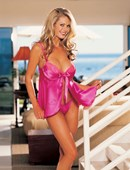 Pink Satin Babydoll and G string