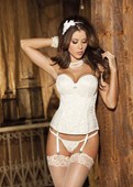 Ivory Beautiful Tapestry Corset