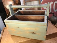 Handy Vintage Style Solid Pine Carry Crate Box with Handle