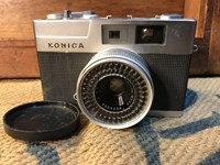 Vintage Japanese Konica Konishiroku Hexanon eemattic 35mm Film Camera