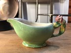 Vintage English Royal Winton Green Tiger Lily Milk Jug