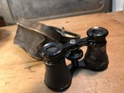 Antique French Opera Glasses Binoculars in Leather Carry Case