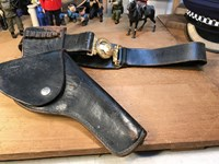 Canadian WM Scully Leather Brass Police Accoutrement Pistol Waist Belt 40""