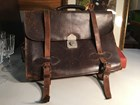 Vintage Australian Made Leather Attache Brief Case Artist Bag