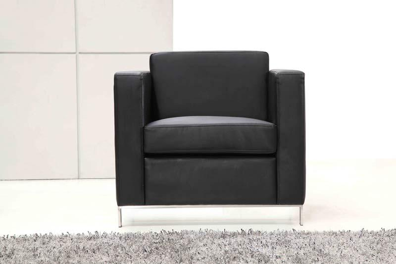 Saturn Single Seater Leather Lounge Office Furniture Store
