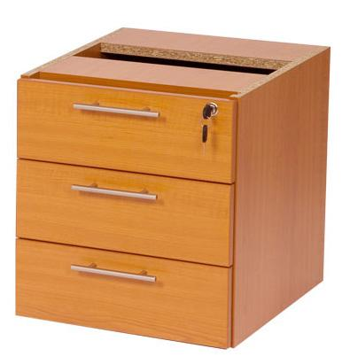 Stella Office Furniture Shallow 3 Drawer Fixed Pedestal 450mmd S10