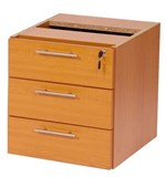 Stella Office Furniture Shallow 3 Drawer Fixed Pedestal 450mmD (S10)