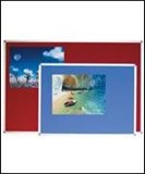 Vision Chart Felt Pin Board 900mm x 1500mm Aluminium Frame Blue Or Grey