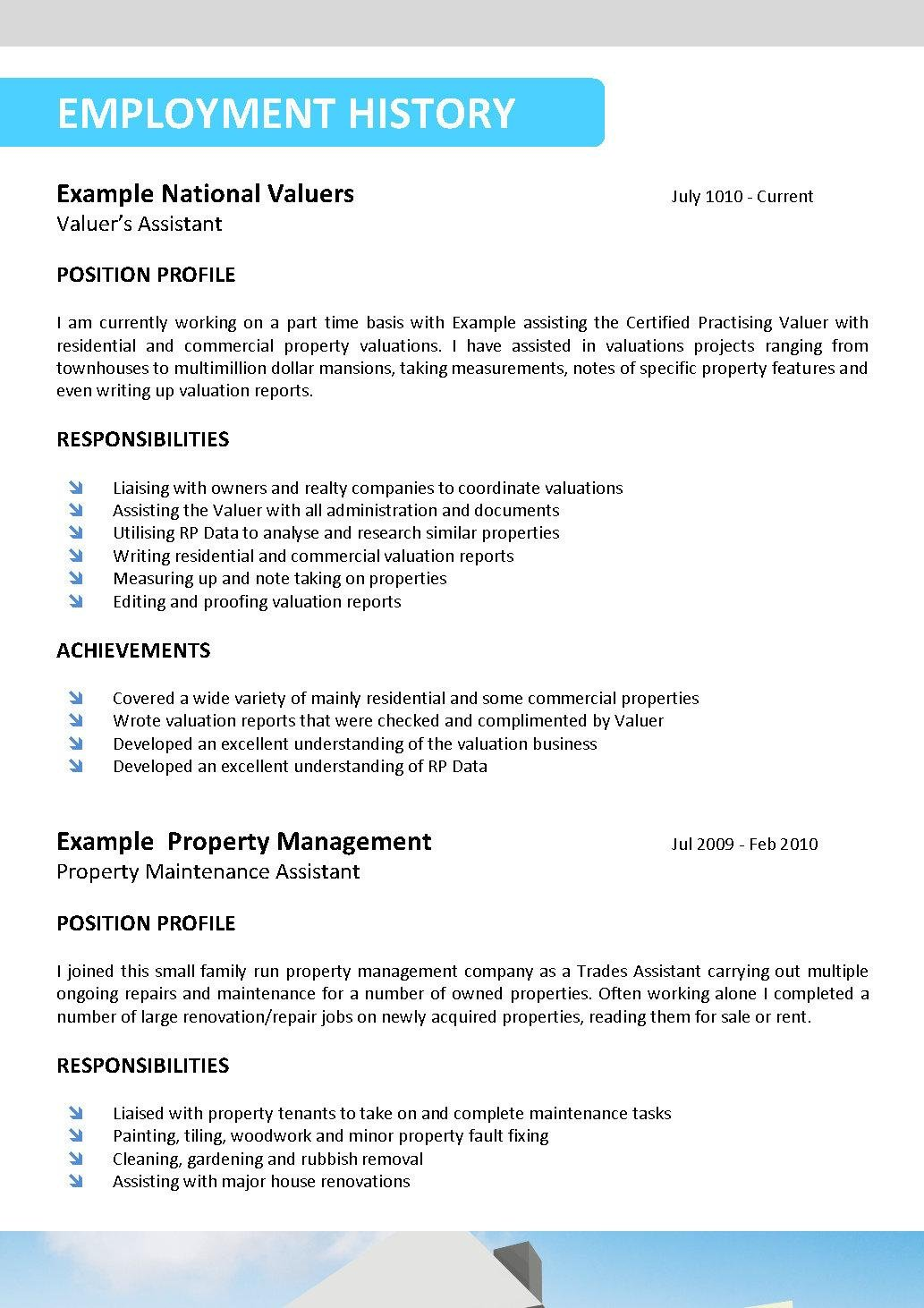real estate resume template 095