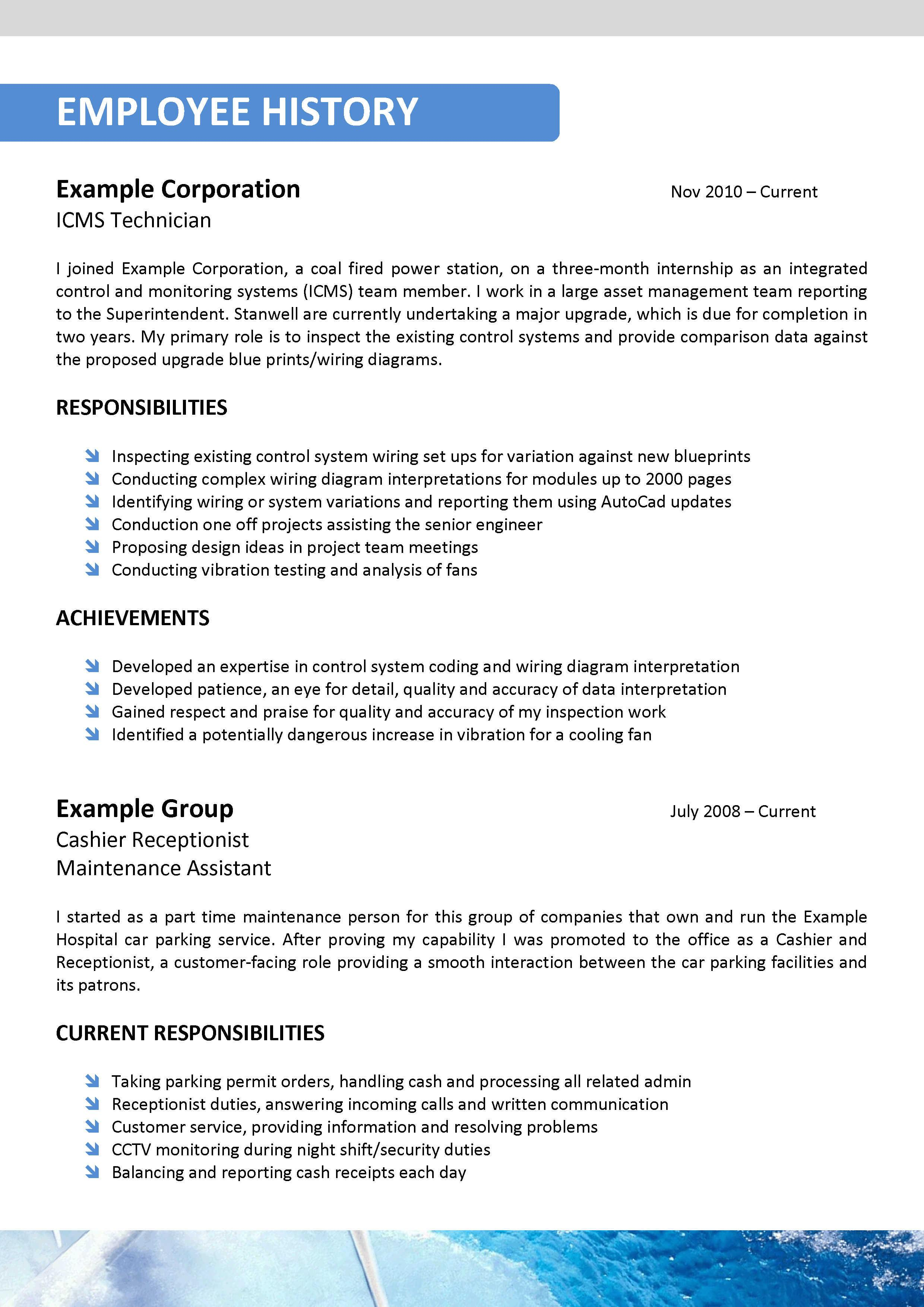 sustainability resume template 027
