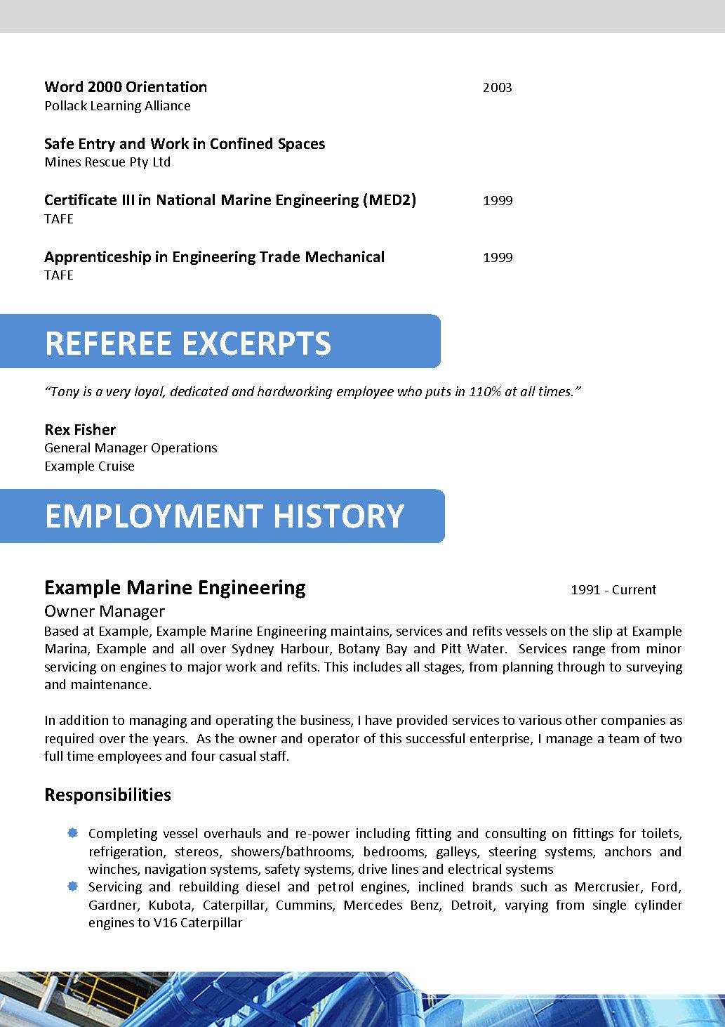 Oil and Gas Resume Template 063