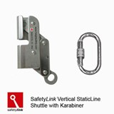 LADER001:.10 : SAFETYLINK Vertical StaticLine Shuttle with Karabiner.