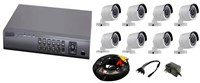 CCTV 8 CH KIT w 8 Cameras Accessories