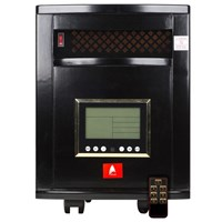 Atlas  Black Indoor Quartz Infrared Heater Remote Cntl 6 Quartz Emitters