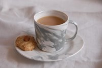 Marbled Porcelain Cup & Saucer Set
