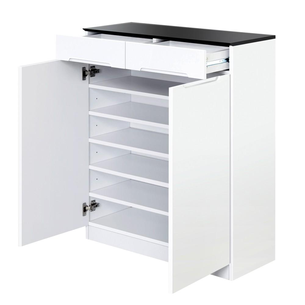 High Gloss Storage Cabinets High Gloss Shoe Cabinet Rack Black White Oz Lifestyle