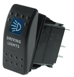 LV5111 - Sealed LED Rocker Switch with Driving Lights Symbol