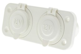 LV1768W - White Dual Flush Mount with Double Cigarette Sockets