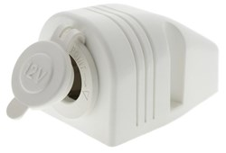 LV1775W - Surface Mount White Cigarette Socket