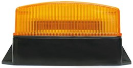 LV0602 - Amber Low Profile Strobe with Fixed Mount Base