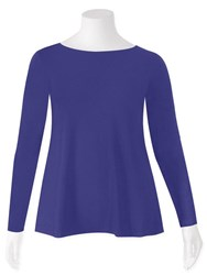 FINAL SALE - Weyre - iris relaxed long sl boat neck top