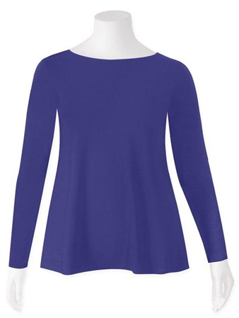 SALE - Weyre - iris relaxed long sl boat neck top