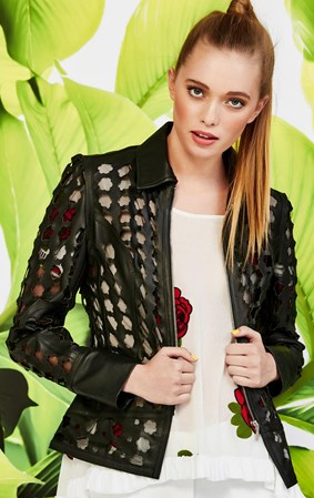SALE - Curate by Trelise Cooper - girls on film leather jacket
