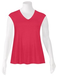 SALE - Weyre - raspberry relaxed scvee shell top
