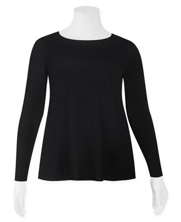 SALE - Weyre - relaxed long sl boat neck top