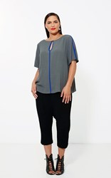 FINAL SALE - Moss - keyhole blouse