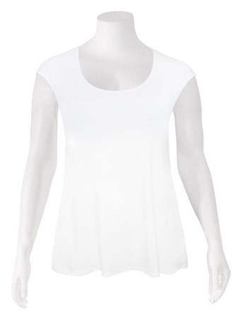 FINAL SALE - Weyre - white relaxed scoop shell