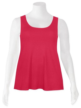 FINAL SALE - Weyre - raspberry relaxed tank