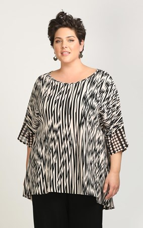 SALE - Ginger - zig zag spot top