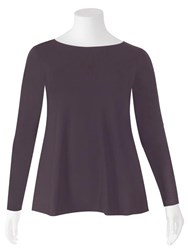 Weyre - grappa relaxed long sl boat neck top