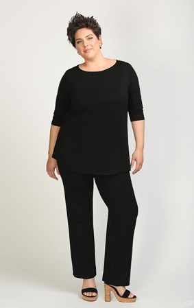 FINAL SALE - Weyre - relaxed boat neck top