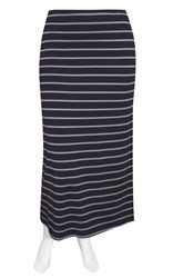 Weyre - dove stripe maxi skirt