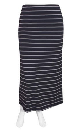 FINAL SALE - Weyre - dove stripe maxi skirt